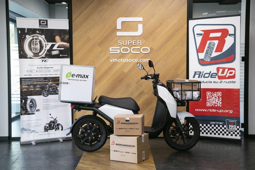 Vmoto Soco partnership Bergamaschi Ride Up